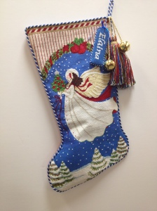 Beautiful Melissa Shirley stocking stitched by Traci P.
