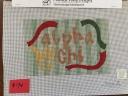 Alpha Chi striped pillow - AXO6
